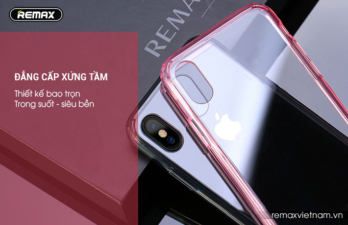 Ốp lưng trong suốt iPhone X Remax RM - 1651 3