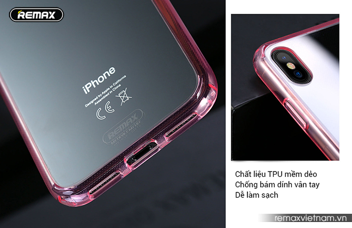 Ốp lưng trong suốt iPhone X Remax RM - 1651 4