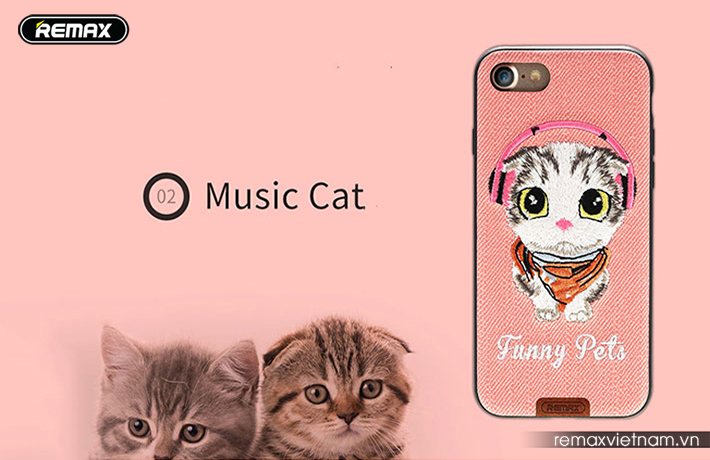 Ốp lưng Funny Pet iPhone 7 Plus Remax RM - 1647 5