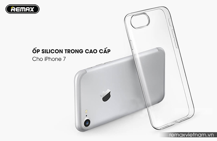 Ốp lưng silicon trong suốt Remax cho Iphone 7 1