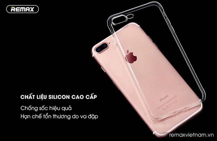 Ốp silicon trong suốt Remax cho iPhone 7 Plus 2