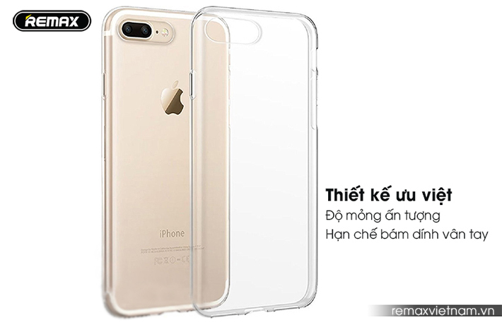 Ốp silicon trong suốt Remax cho iPhone 7 Plus 3