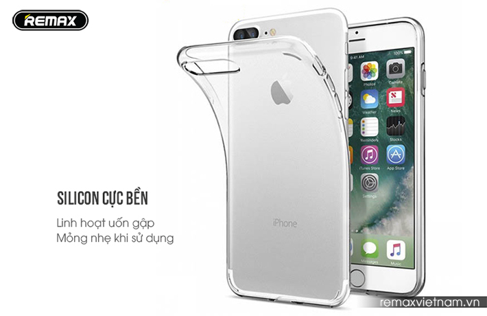 Ốp silicon trong suốt Remax cho iPhone 7 Plus 4