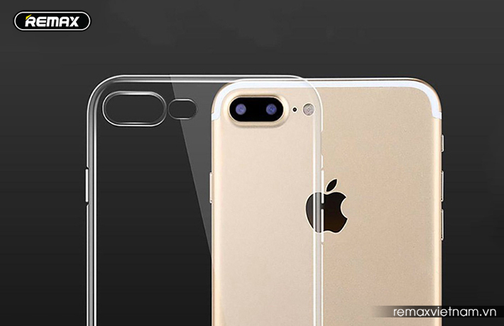 Ốp silicon trong suốt Remax cho iPhone 7 Plus 6