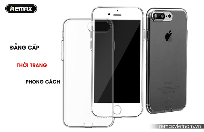 Ốp silicon trong suốt Remax cho iPhone 7 Plus 7