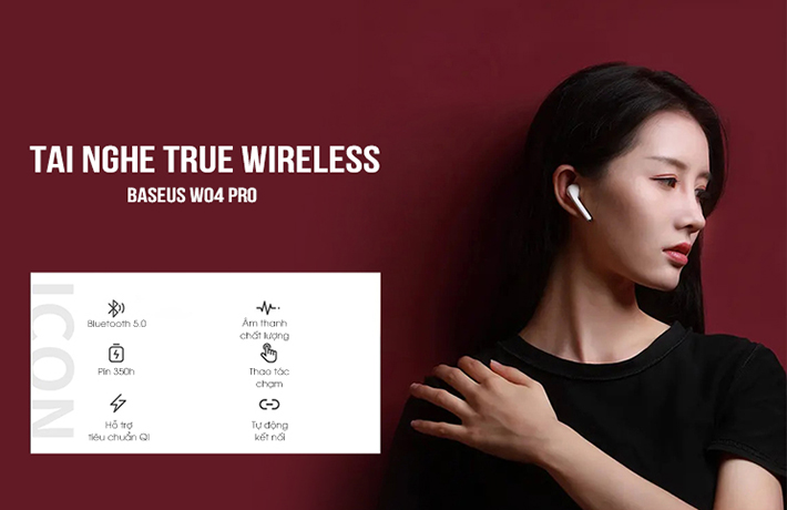 Tai nghe True Wireless Baseus W04 Pro 1