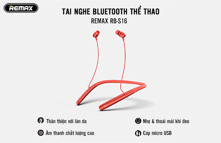 Tai nghe bluetooth thể thao Remax RB-S16