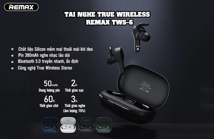 Tai nghe True Wireless Remax TWS-6