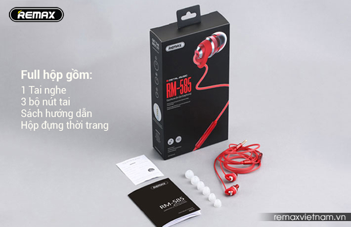 Tai nghe in-ear Remax RM-585 fullbox
