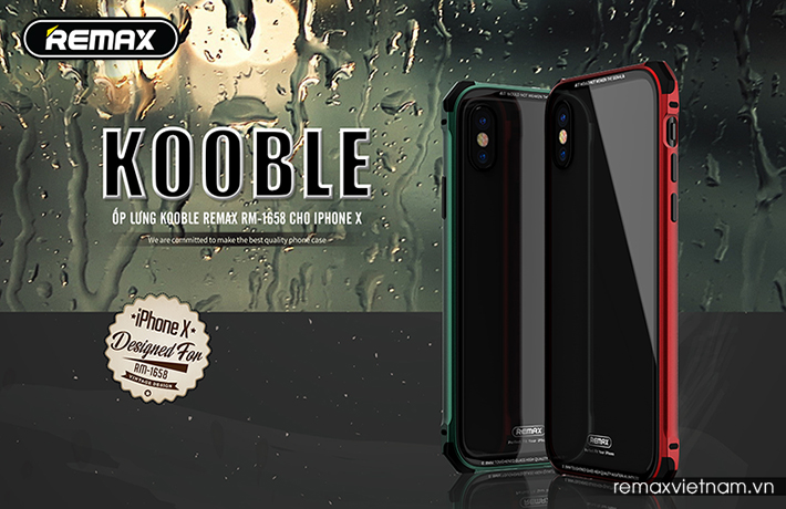 Ốp lưng Kooble cho iPhone X Remax RM-1658 1