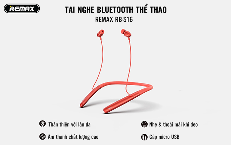 Slide Tai nghe Bluetooth thể thao Remax RB-S16 - 1