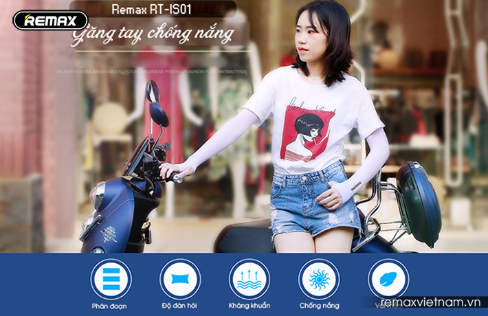 Găng tay chống nắng thể thao Remax RT-IS01 1